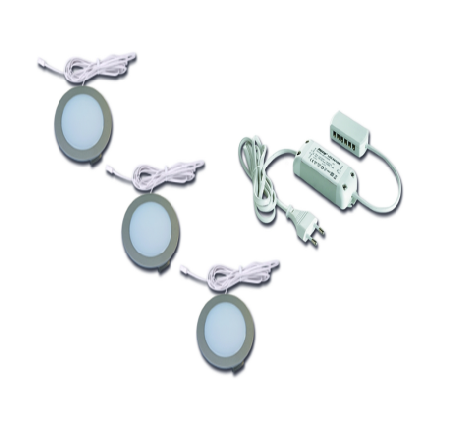 LED Downlight Kit - 3x Warm White