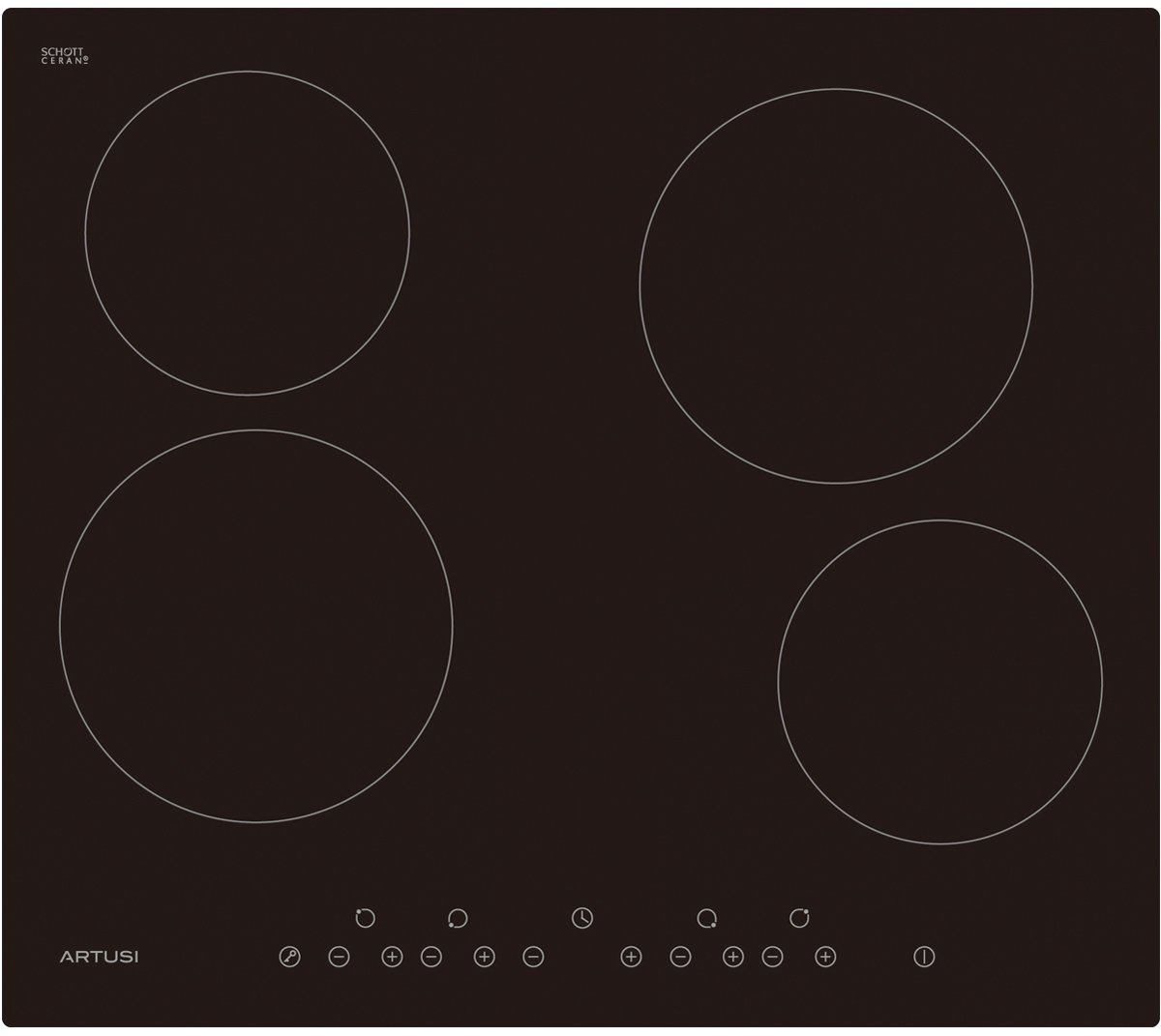 60CM Electric Ceramic Cooktop - ARTUSI CACC60