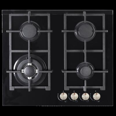 60cm Gas Cooktop - Black - ARTUSI CAGH6000B