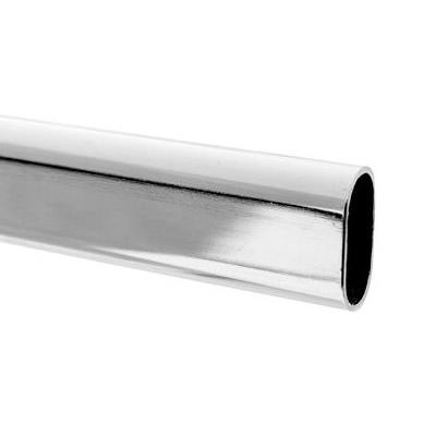 Oval Tube Chrome 3000mm