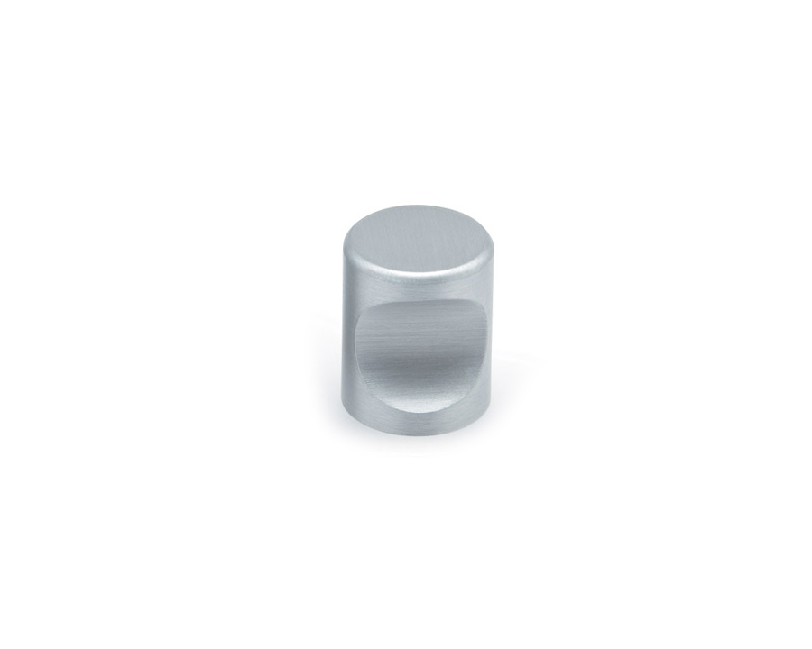 Cylinder Knob In Satin Aluminium 20mm