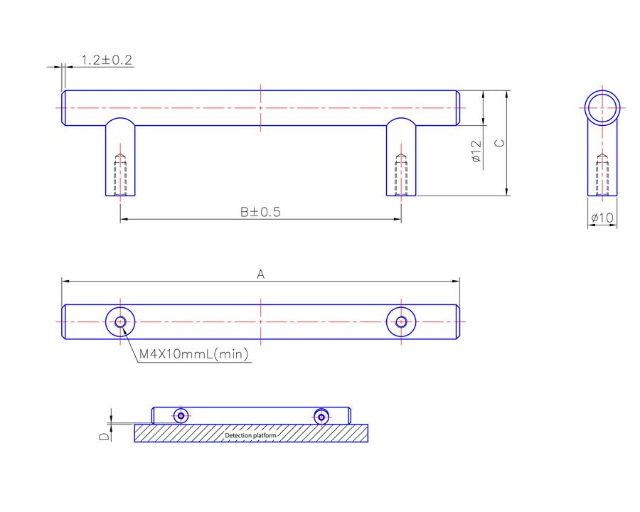T Bar Handle 232mm Long