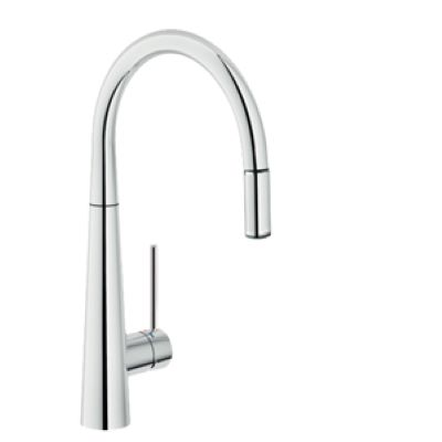 Luxe Arno Mixer with pull out spray - Chrome