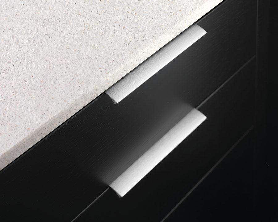 Furnipart Edge Straight - 200mm Long - Inox