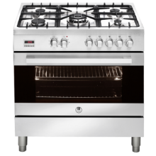 90cm Upright 5 Burner Oven - Stainless Steel - ARTUSI - CAFG91X
