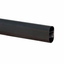 Oval Tube Black 3600mm