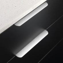 Furnipart Edge Round - 200mm Long - Inox