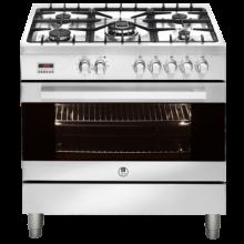 90cm Upright 5 Burner Oven - Stainless Steel - ARTUSI - CAFG91X