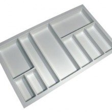 Cutlery Tray Suit 900mm Wide Drawer (White)