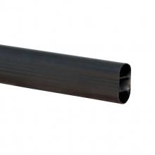 Oval Tube Black 3600mm