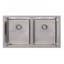 Platinum Inset Double Bowl Sink 2 x 28 Litres