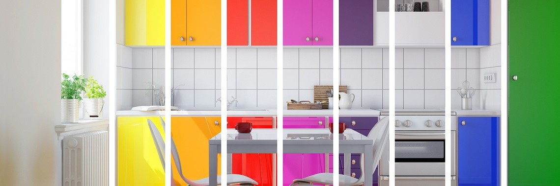 Colourful Kitchen Cabinets By Ekitchens In Perth