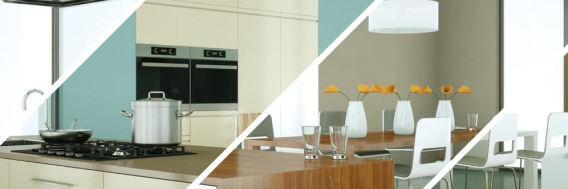 blue cream wooden kitchen renovations Perth by eKitchens