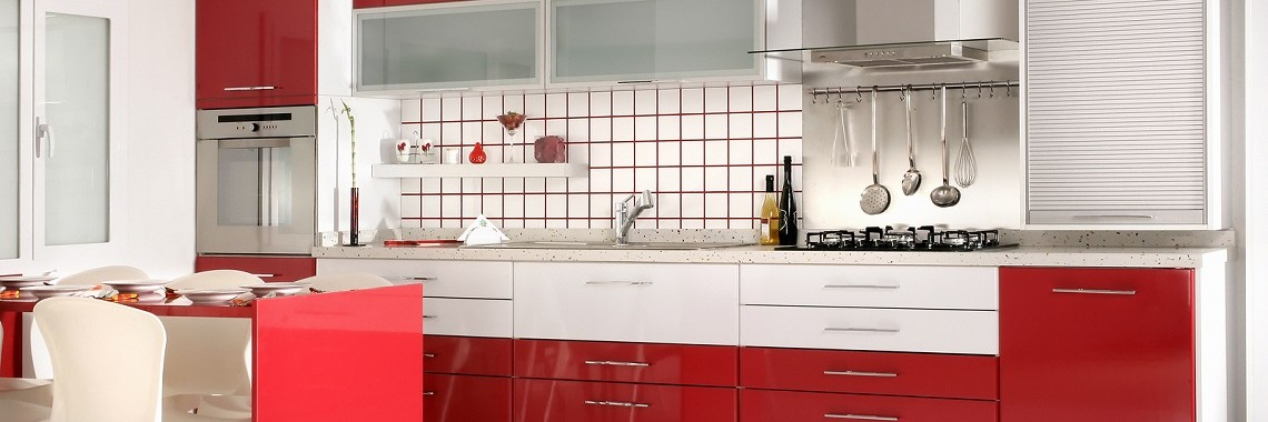 Red Kitchen Cabinets By Ekitchens In Perth
