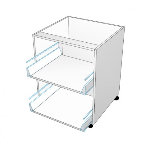 2 Drawer No front
