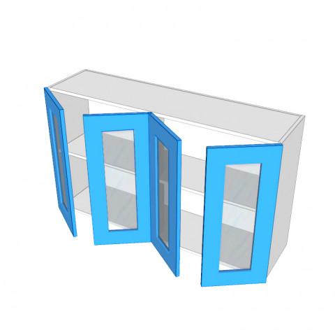 4 Door Overhead Glass Doors