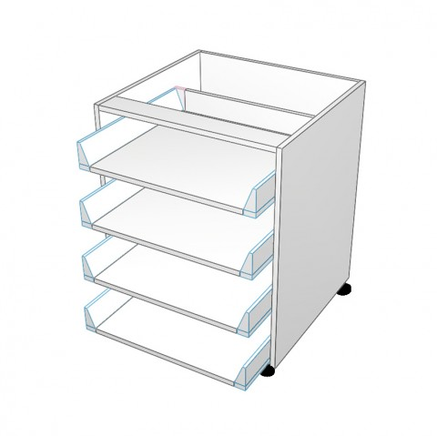 4 equal drawer no drawer fronts
