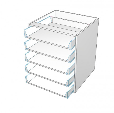 5 drawers not equal carcass only