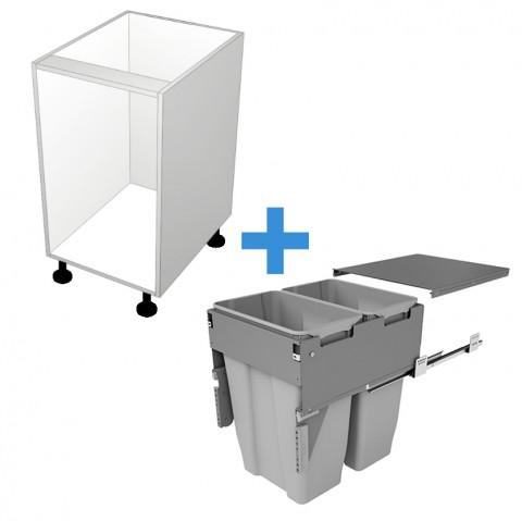 Bin Cabinet with 450mm Sige Bin Kit No Door