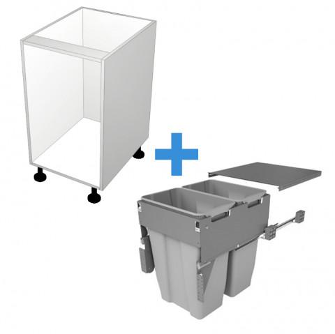 Bin Cabinet with 500mm Sige Bin Kit No Door_0