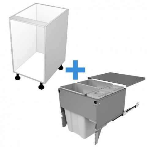 Bin Cabinet with 600mm Sige Bin Kit No Door