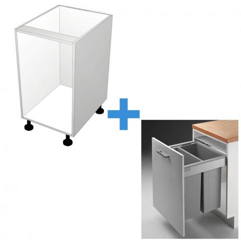 Bin Cabinet with 600mm Wesco Bin Kit No Door