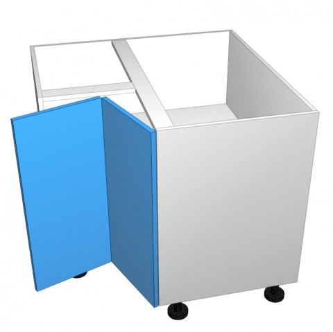 Corner-right-hinge open