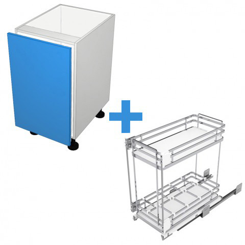 Floor Cabinet with 300mm Sige Spice Rack