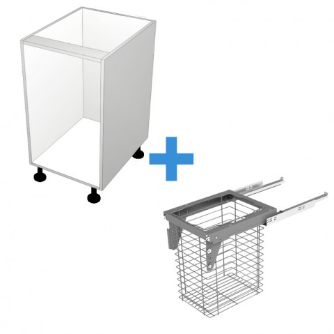 Laundry Cabinet with 450mm Sige Basket No Door