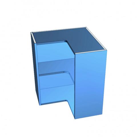 Open Corner Cabinet in Colour Board_Top Edges Un-Edged