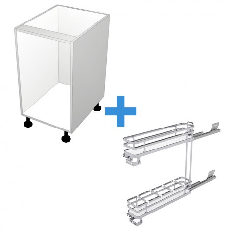 Pull Out Cabinet with 150mm Sige Spice Rack No Door