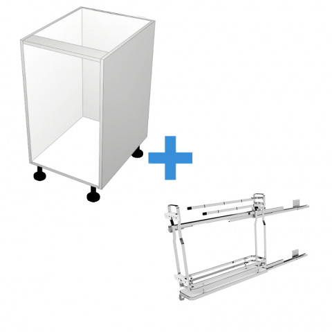 Pull Out Cabinet with 150mm Sige Towel Rail No Door