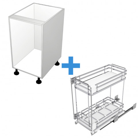 Pull Out Cabinet with 450mm Sige Spice Rack No Door