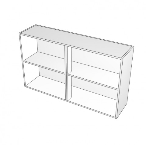 overhead cabinet with center mullion