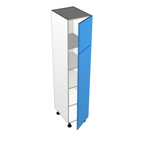 2 doors hinged right 1 fixed shelf 3 adjustable