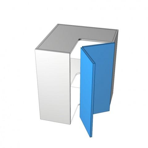 2-Door-corner right hinge 1 shelf-