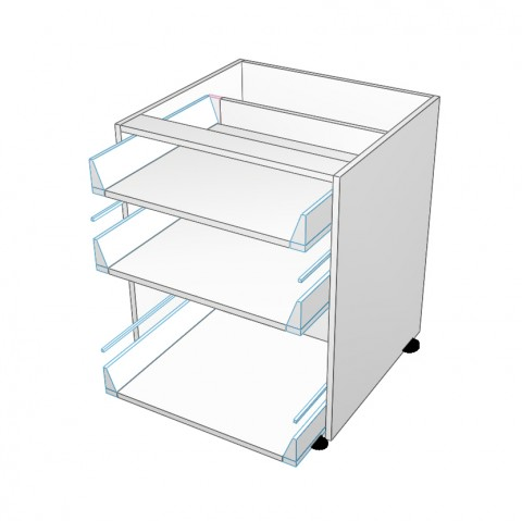 3 drawers top 2 not equal no drawer fronts