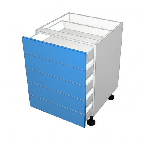 5 drawer cabinet not equal