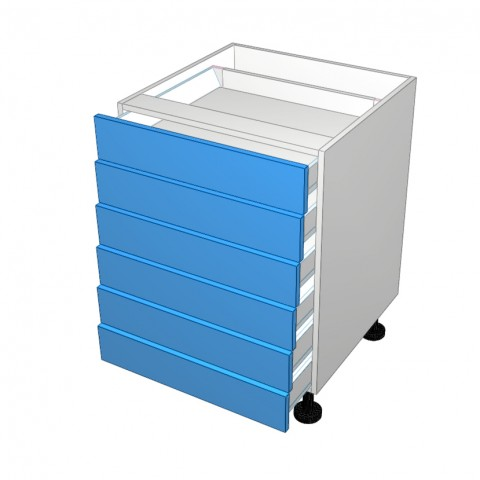 6 drawers all not equal