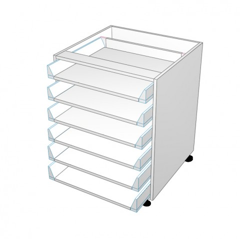 6 equal drawer no drawer fronts