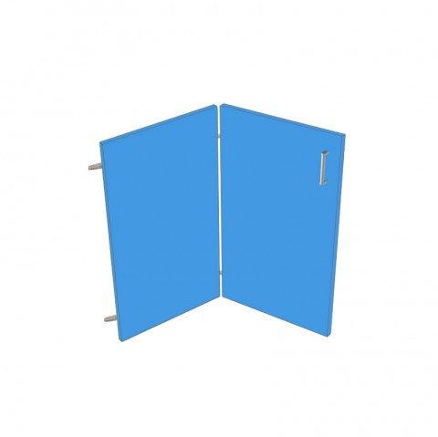 Bifold corner door set - ABS Edged Melamine Door