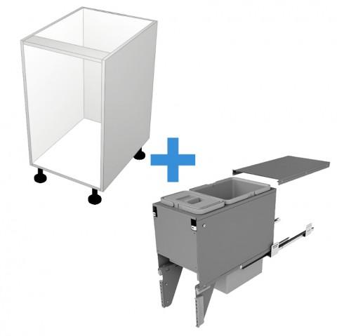 Bin Cabinet with 300mm Sige Bin Kit No Door