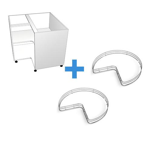 Corner Cabinet - No Doors - with Corner Carousel