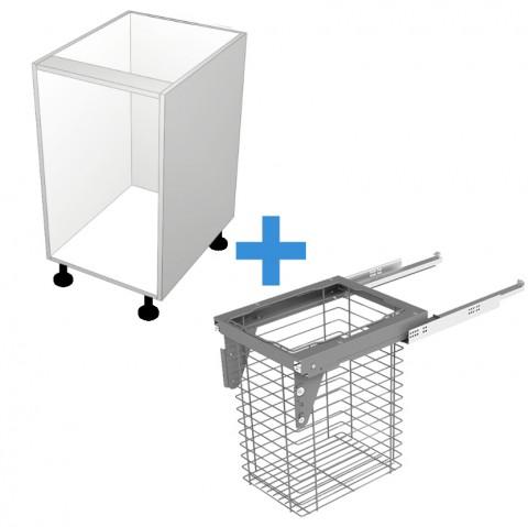 Laundry Cabinet with 600mm Sige Basket No Door