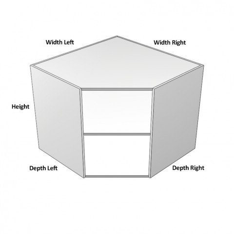 1 door angled hinge left dimensions