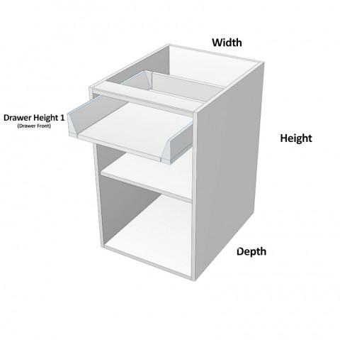 1 drawer 1 door hinged left dimensions