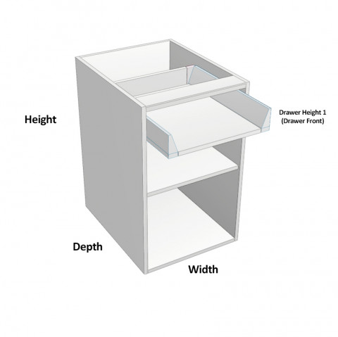 1 drawer 1 door hinged right dimensions