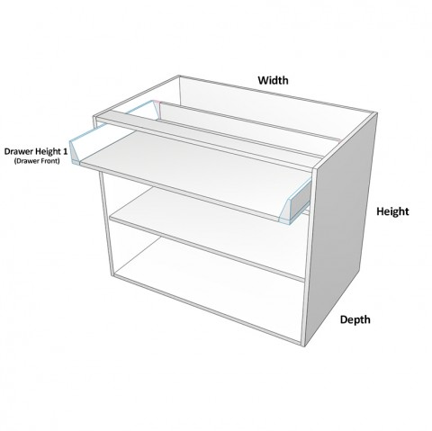 2 door with 1 drawer dimensions