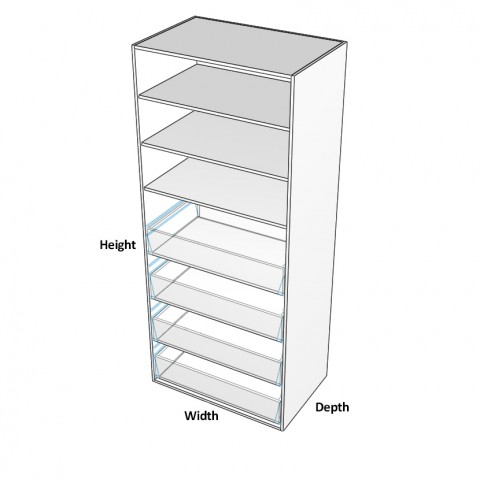 2-Door-Pantry with 4 Internal Drawers dimensions