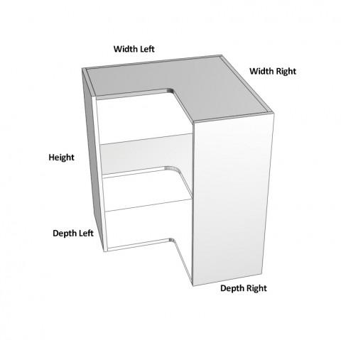2-Door-corner left hinge-dimensions-
